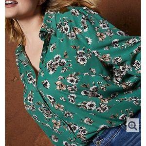 Torrid green blouse